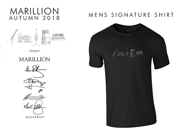 Band Signature 2018 Men's Black T-Shirts