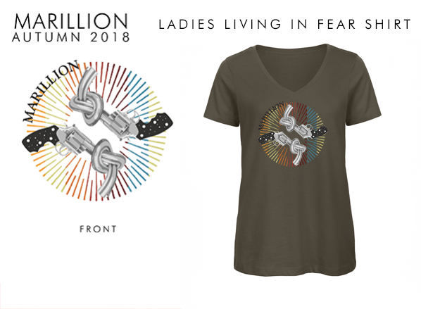 Living In FEAR 2018 Ladies Khaki T-Shirts